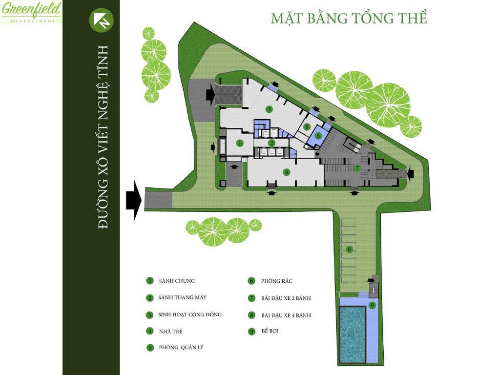mat bang tong the chung cu greenfield