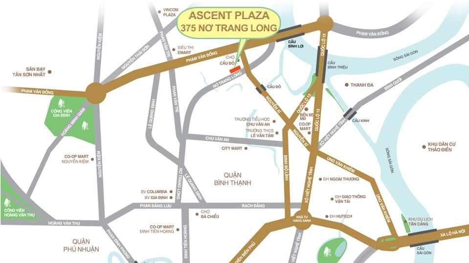 vi tri du an ascent plaza tien phat