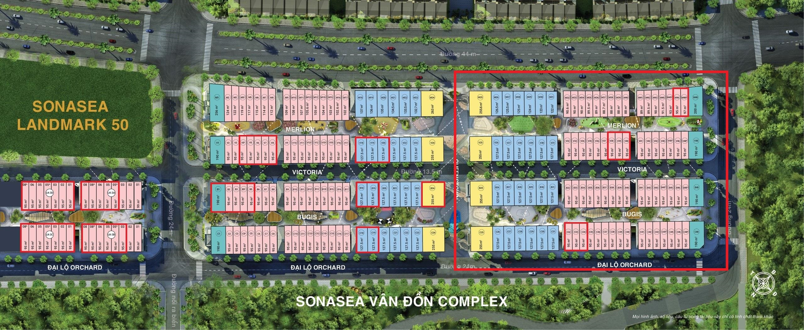 mat bang giai doan 1 du an sonasea van don harbor city