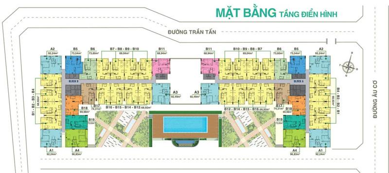 mat bang tang dien hinh du an melody residences