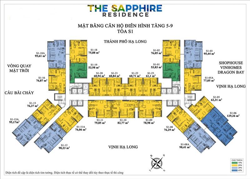 mat bang toa s1 the sapphire residence