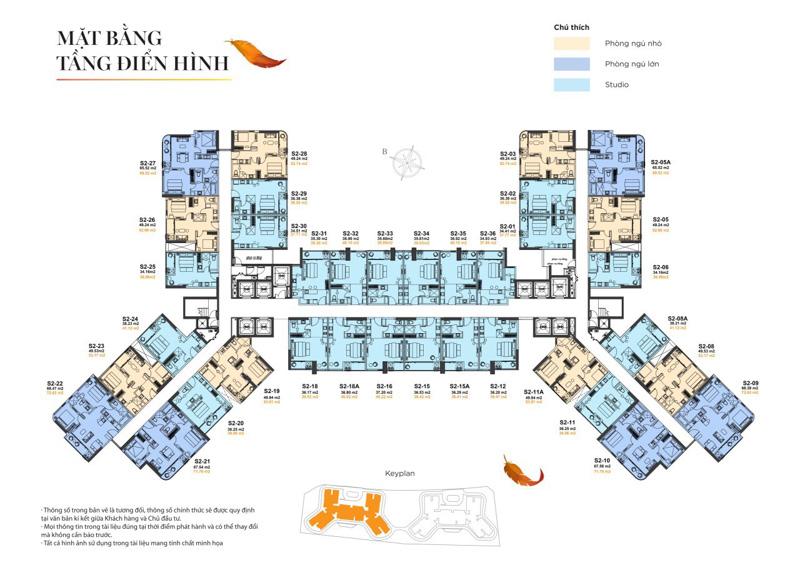 mat bang toa s2 the sapphire residence