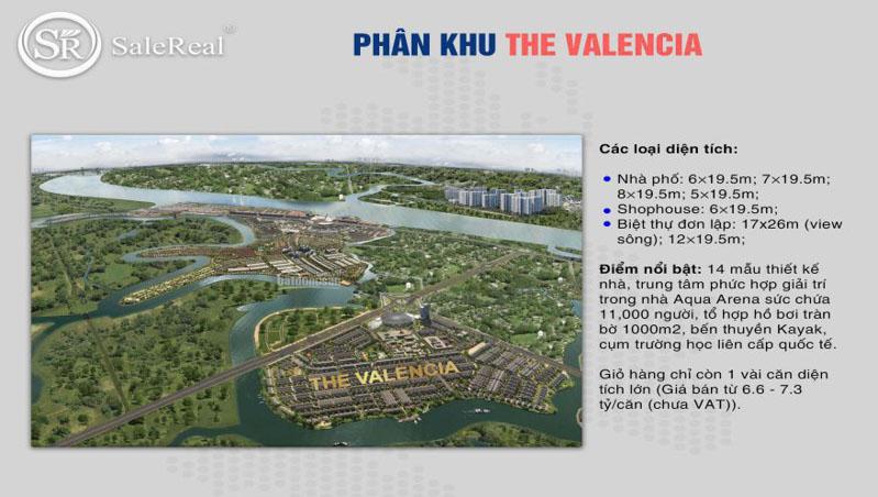 phan khu the valencia tai aqua city