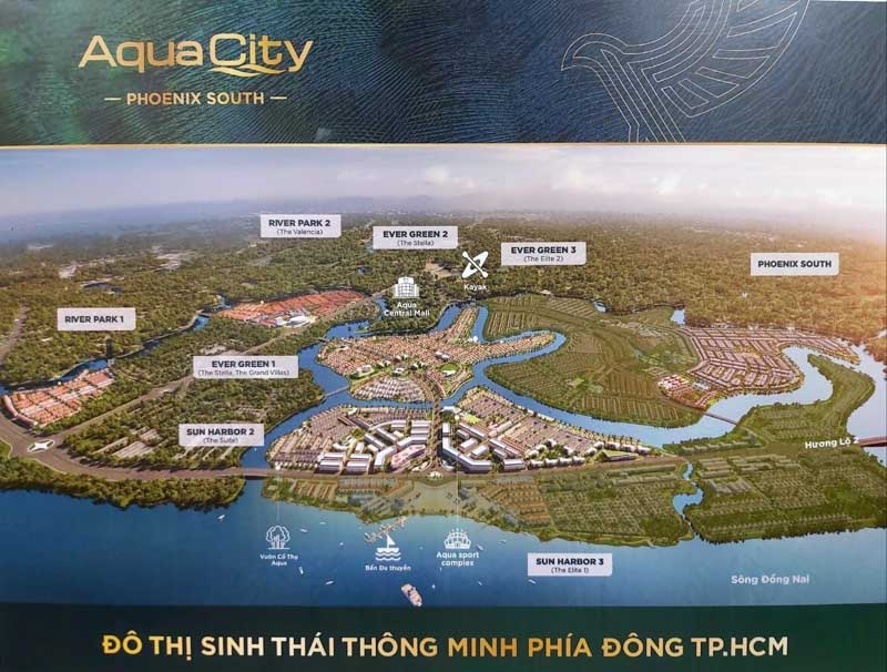 mat bang khu do thi aqua city