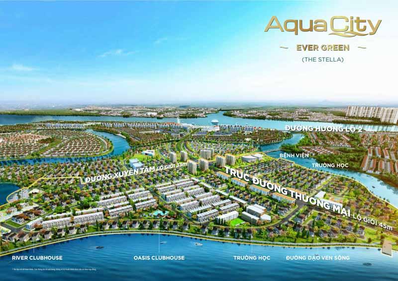 phoi canh aqua city the stella evergreen
