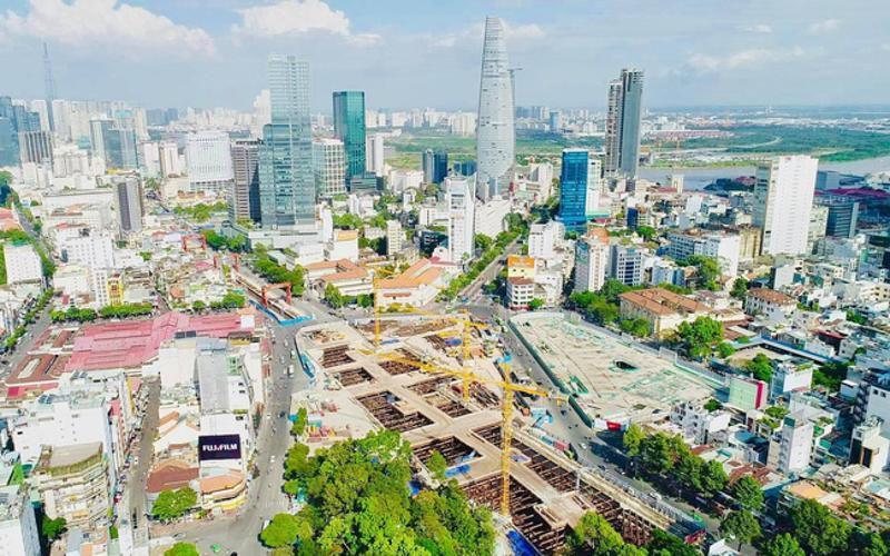 ga metro ben thanh doi dien one central saigon