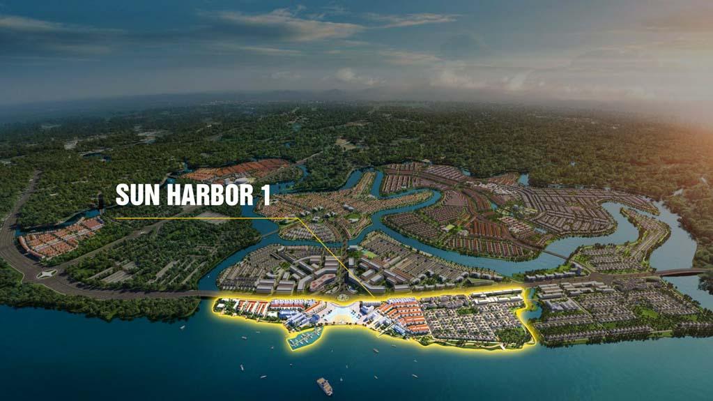 vi tri phan khu sun harbor 1 aqua city